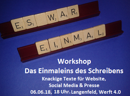 Workshop Knackige Texte für Website, Social Media & Presse